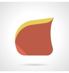 Soft furniture flat color design icon vector image