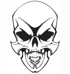 tatto skulll vector image