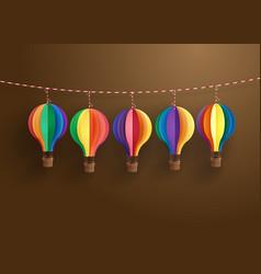 colorful hot air balloon vector image