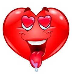 in love heart vector image vector image
