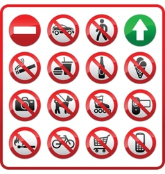 prohibited set symbols vector image vector image