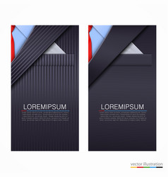 Business cards with suit vector