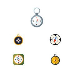 flat icon compass set of direction divider vector image vector image