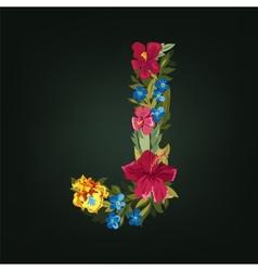 J letter Flower capital alphabet Colorful font vector image vector image