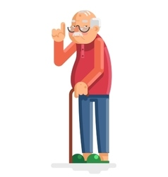 Old Man Grandfather Adult Flat Design vector image vector image