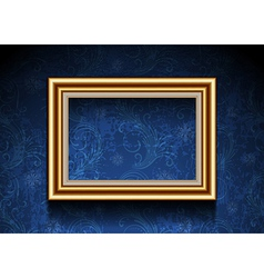 Picture Frame on Grunge Wallpaper vector image vector image