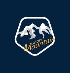 snow mountain logo vector image vector image