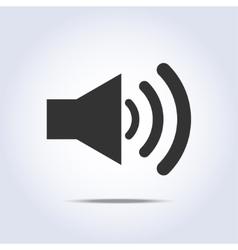 Speaker volume icon gray colors vector image vector image