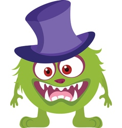 Witch monster icon vector