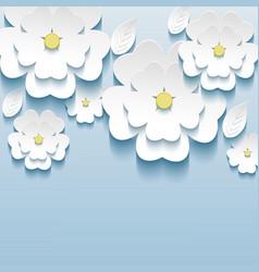 3d flowers sakura wallpaper vector image