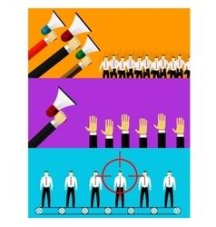 human resources and hiring vector image