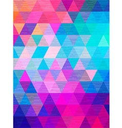 Line texture move on triangle background vector
