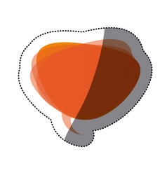orange round chat bubble icon vector image vector image