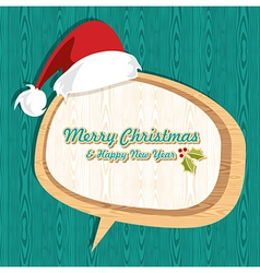 Retro wooden Christmas sale set vector image vector image