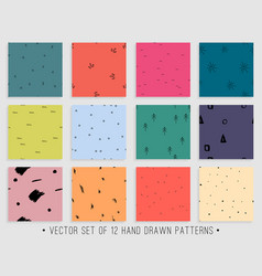 seamless pattern collection for backround vector image