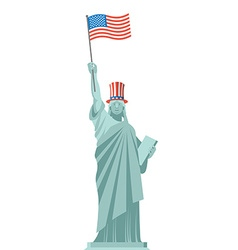 Statue of Liberty hat Uncle Sam Independence Day vector image