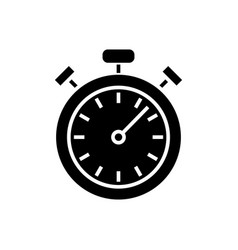 stopwatch - timer icon black vector image