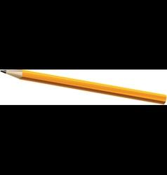 Wooden sharp pencil vector image