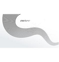 Abstract elegant grey curvy thin lines abstract vector
