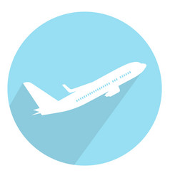 Airplane aeroplane aviation flat icon for apps vector