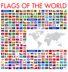 all world flags - icon set vector image