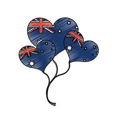 Australian balloons design vector