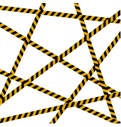 background crime scene caution tape police line vector image