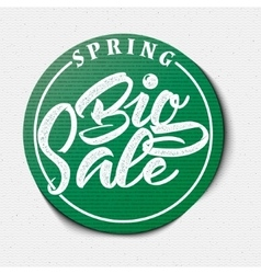 Big Sale spring insignia and labels for any use vector