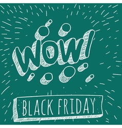 Black Friday retro style mock up vector image