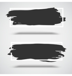 Black grunge banners on white background with vector image