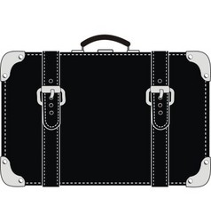 black leather suitcase vector image