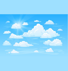 Blue clean air sky with clouds panorama cloud vector