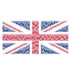 British flag pattern of test tube items vector