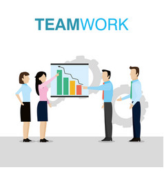 business teamwork concept vector image