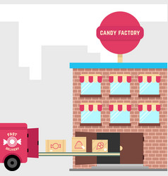 candy factory with fast delivery vector image