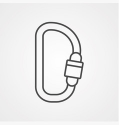 carabiner icon sign symbol vector image