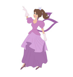 cartoon fairy dancing in beauty drees vector image