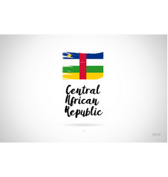 central african republic country flag concept vector image