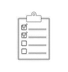 checklist sign black dotted vector image