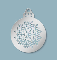 christmas festive ball cut out of paper vector image
