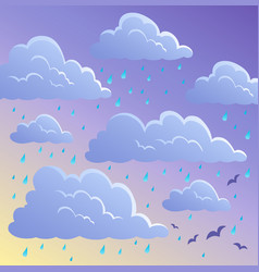 Cloudy sky background 4 vector