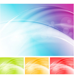 Colourful waves abstract design vector