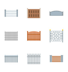 Compound icons set flat style vector