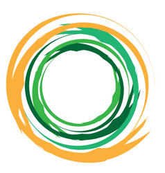 Concentric grungy circular circle element radial vector