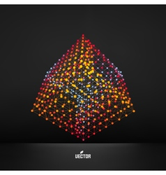 Cube Connection structure vector image