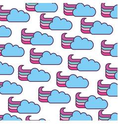 Cute fantasy cloud pattern vector
