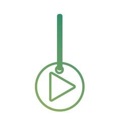 Decorative pendant with arrow vector