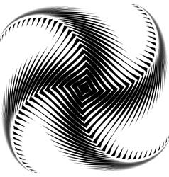 Design monochrome whirl octopus background vector