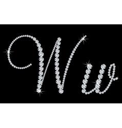 Diamond alphabetic letters w vector