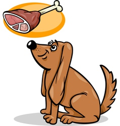 dog and haunch cartoon vector image